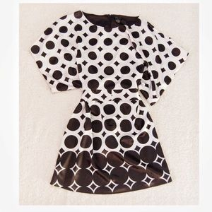 Bcbg Maxazria silk dolman printed dress